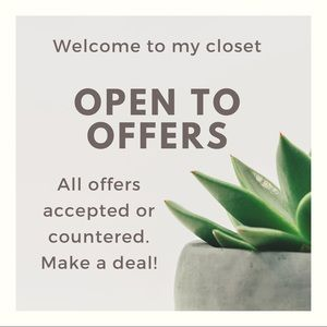 Offers welcome & encouraged